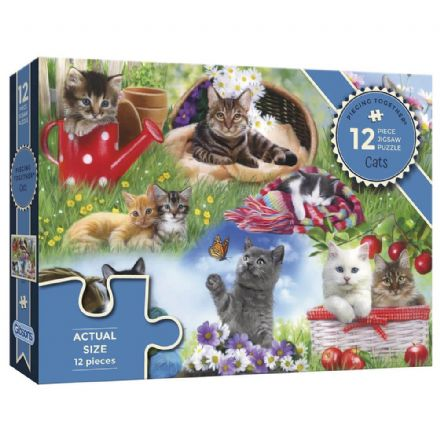 Cats, Piecing Together 12 Extra Large Piece Gibsons Jigsaw Puzzle